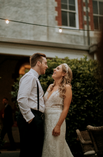 Caitlyn and Jono at Abbotsford Convent