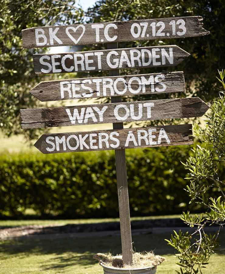 Wedding Venue Signs - Trent and Brooke's Wedding at Private Residence