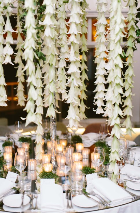 Flower & Table Setup - Aimee and Christopher Wedding at Stokehouse