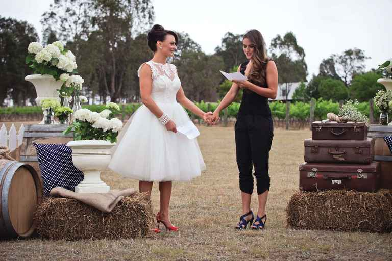 Melanie and Tyrina at Bracken Ridge Vineyard Estate