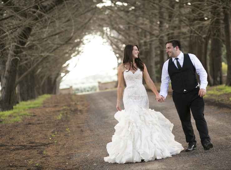 Stephanie & Joseph at Baie Wines