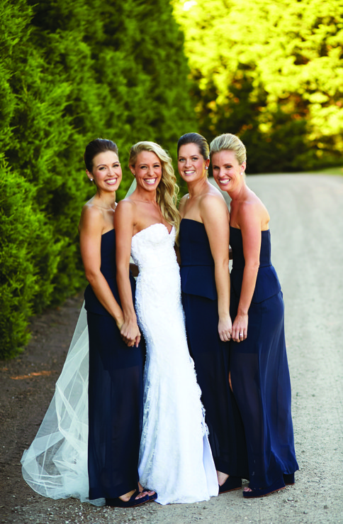 Brooke Wedding Photo with Friends at Private Residence