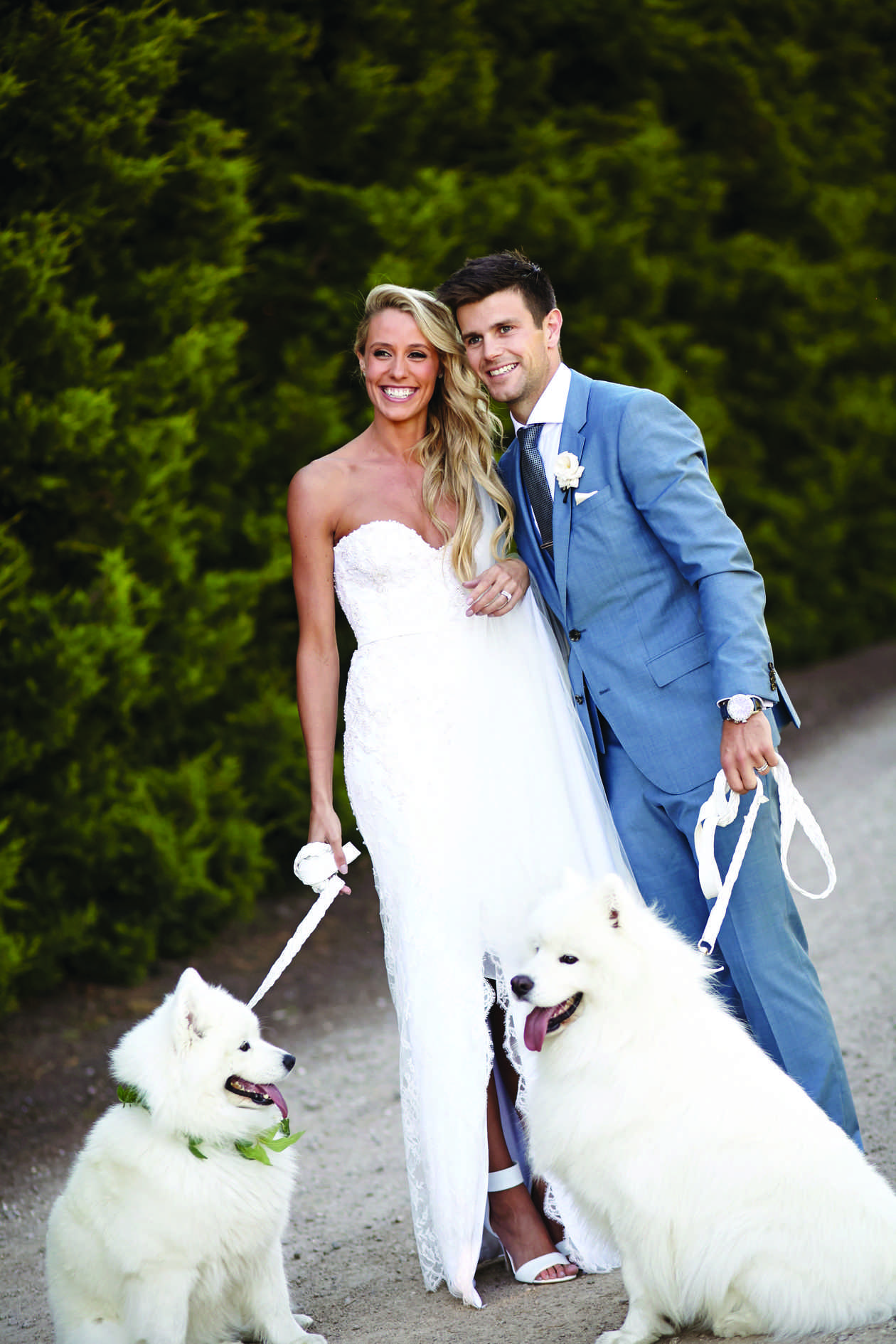 Trent and Brooke's Wedding Photos with Dogs at Private Residence