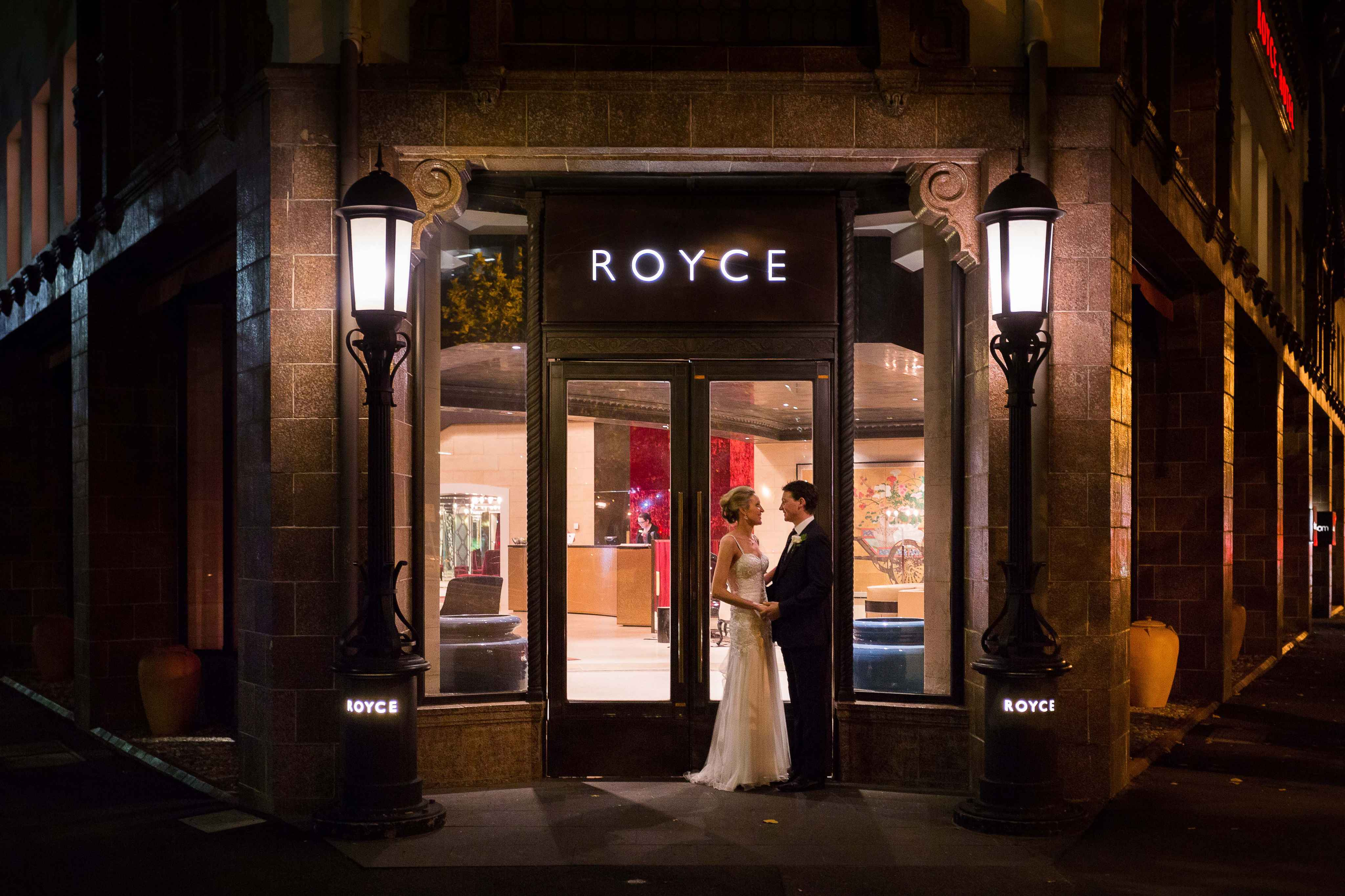 Sophie and Charlie at Royce Hotel