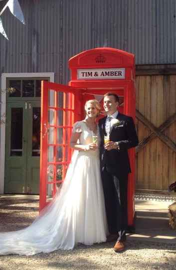Timothy & Amber at The BarnTim&Amber phonebox.jpg