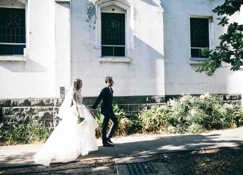 Brigitte and Angus at Abbotsford Convent