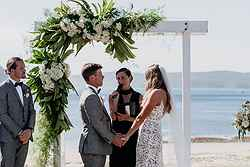 Beach Wedding Ceremony - The Boathouse Palm Beach