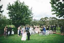 Garden Wedding Ceremony - Bulong Estate at Real Weddings