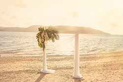 Beach Wedding Ceremony - Daydream Island Resort at Real Weddings