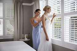 Bride at Her Room - Hotel Kurrajong at Real Weddings