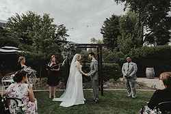 Historic Garden Wedding Ceremony - Hotel Kurrajong at Real Weddings