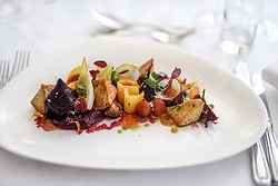 Pickled beetroot & macadamia salad