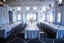 Indoor Wedding Reception Melbourne - The Refectory at Real Weddings