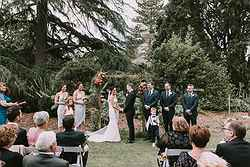 Garden Wedding Ceremony Venue - The Refectory at Real Weddings