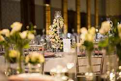 Flower Table Setup for Wedding - Marriott Surfers Paradise at Real Weddings