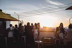 Rooftop Wedding Reception Melbourne - True South at Real Weddings