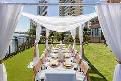 Outdoor Wedding Reception - Vibe Hotel at Real Weddings
