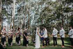 Perfect Garden Wedding Ceremony - Bawley Bush Retreat at Real Weddings