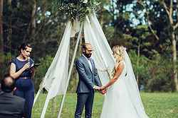 Garden Weddding Ceremony - Bawley Bush Retreat at Real Weddings