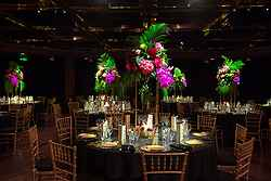 Elegant Wedding Table Setup - InterContinental Hotel at Real Weddings