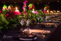 Hotel Weddings Table Setup - InterContinental Hotel at Real Weddings