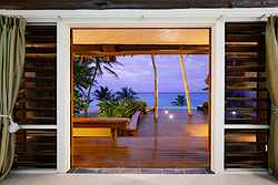 Nightime Beach View - Yasawa Island Wedding Venue at Real Weddings